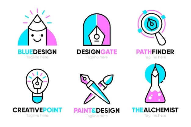 Collection of graphic designer logo templates