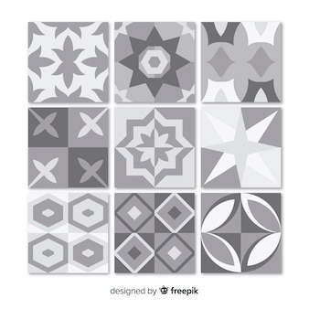 Collection of gray tiles