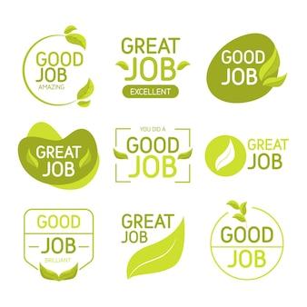 Raccolta di ottimi lavori e adesivi di buon lavoro