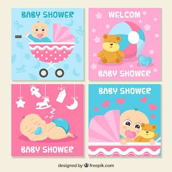 Collection of greeting cards for baby shower
