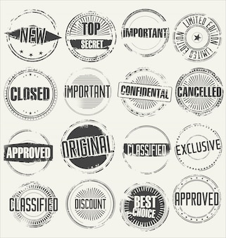 Collection of grunge rubber stamps