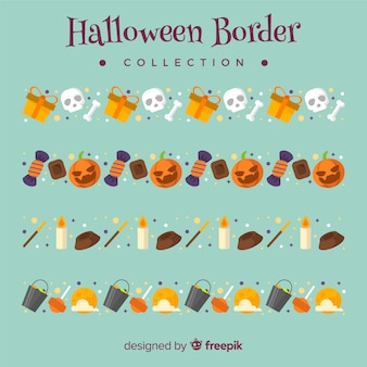 Collection of halloween borders