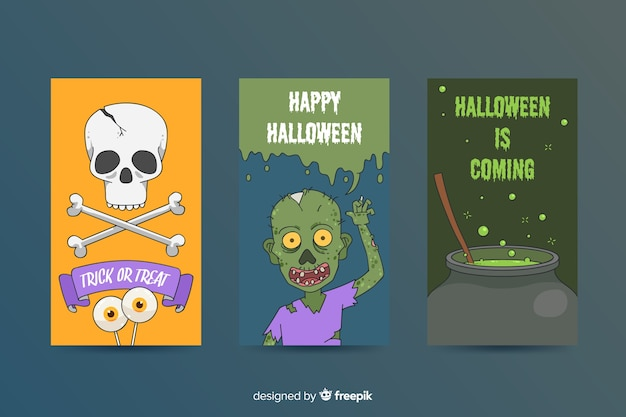 Spooky Halloween Element Collection Vector Free Download