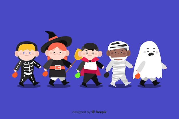 Collection of halloween kid collection