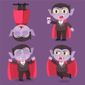 Collection of halloween vampire character