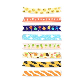 Collection of hand draw washi tape.