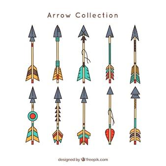 Raccolta delle frecce disegnate a mano