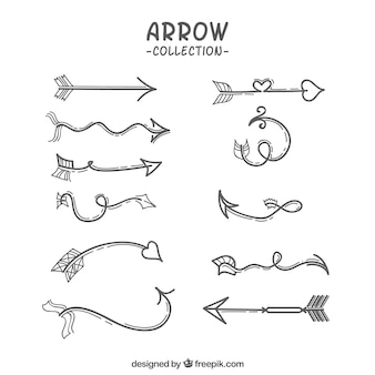 Collection of hand drawn arrows