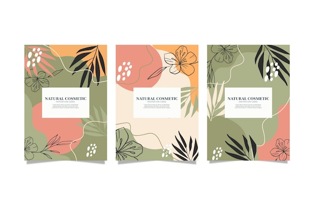 Collection of hand drawn floral covers