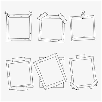 Collection of hand drawn photo frames