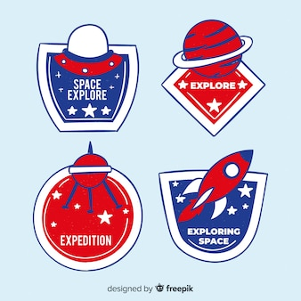 Collection of hand drawn space stickers