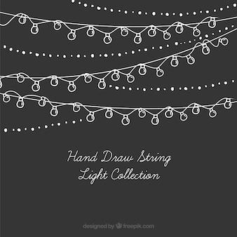Collection of hand-drawn string lights