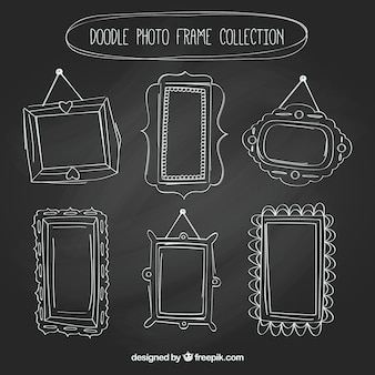 Collection of  hand drawn vintage photo frames