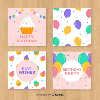 Collection of happy birthday cards