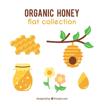 Collection of honey object