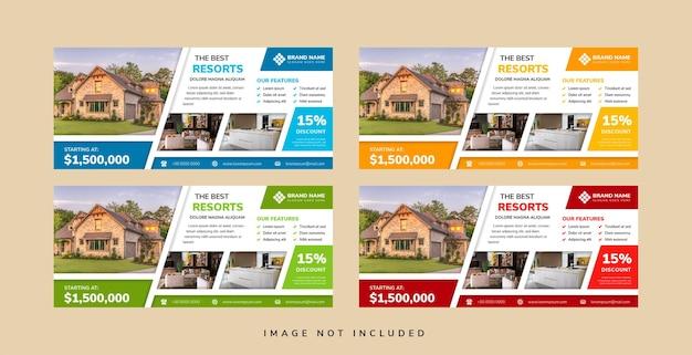 Коллекция горизонтальных бизнес-курортов веб-шаблоны баннеров