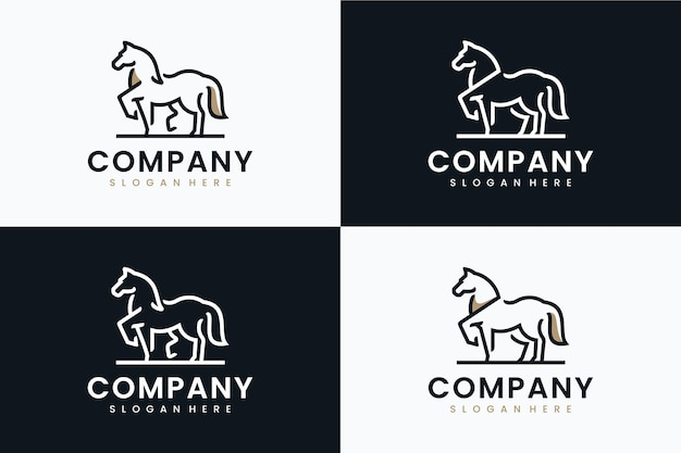 Collection of horse template , logo design inspiration