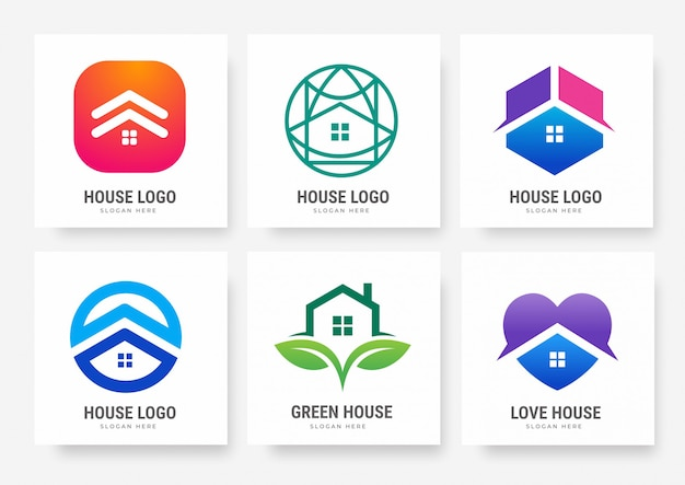 Collection of house logo templates
