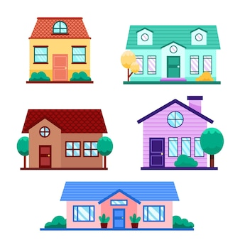 Collection of houses with trees
