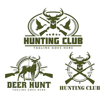Collection of hunting logo pack