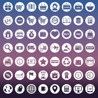 Collection of icons for e commerce