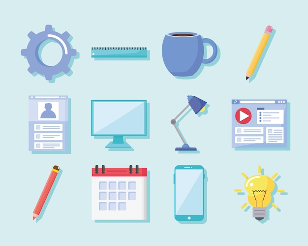 Collection of icons office