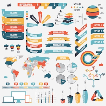 Collection of infograph elements