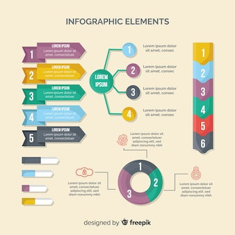 Collection of infographic design elements