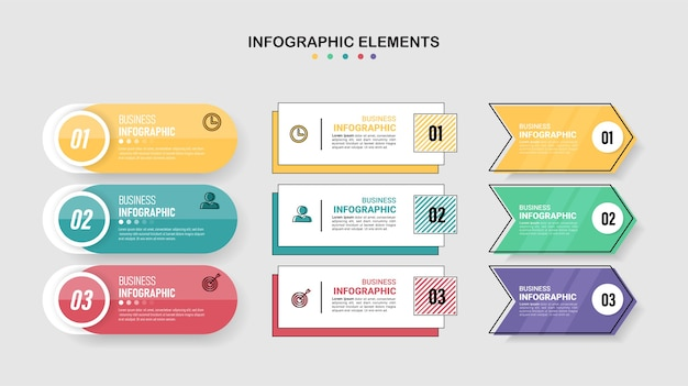 Collection of infographic designs
