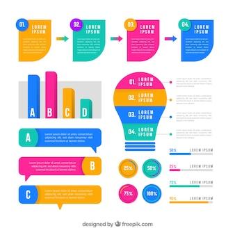 Raccolta di elementi infographic