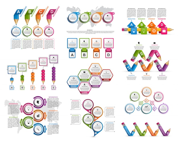 Collection infographics elements