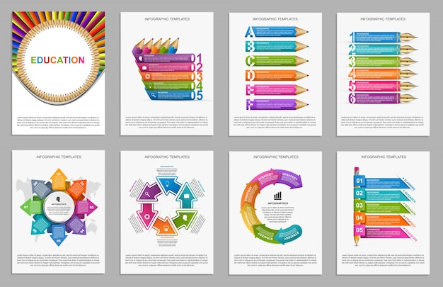 Collection infographics for presentations.