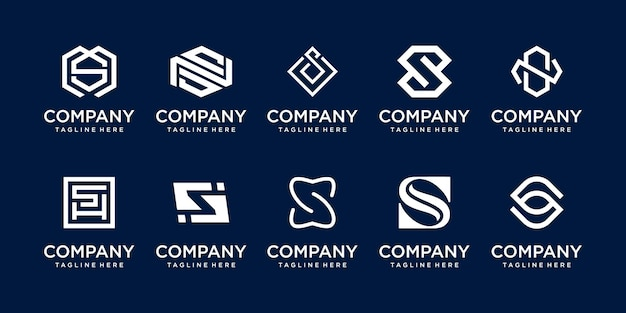 패션 스포츠 기술 비즈니스를 위한 컬렉션 초기 편지 s ss 로고 템플릿 아이콘