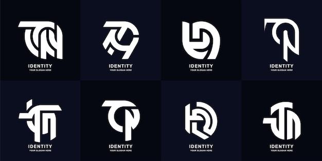 コレクションの頭文字tnまたはtロゴテンプレートデザイン