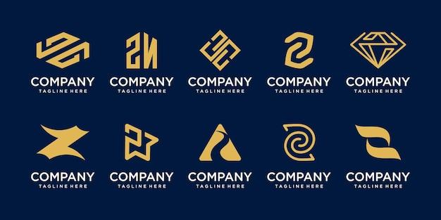 패션 스포츠 컨설팅 비즈니스를 위한 컬렉션 초기 문자 z 로고 아이콘 세트 디자인