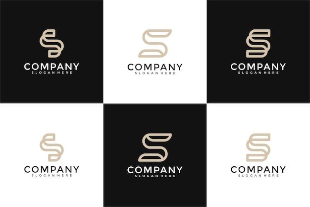 Коллекция инициалов s логотип дизайн шаблона