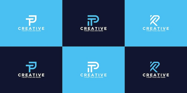 A collection of inspirational logo design initials t p
