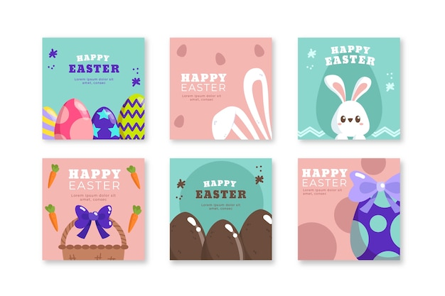 Collection of instagram posts for easter