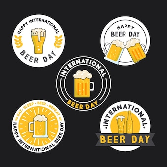 Collection of international beer day badges