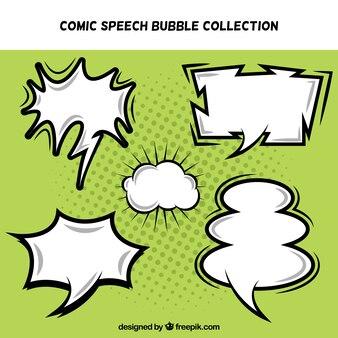 Collezione di discorso irregolare bolle