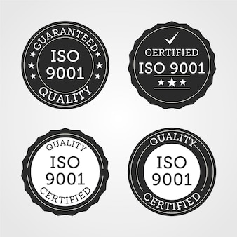 Collection of iso certification stamp