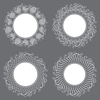 Collection of isolated white napkins.
