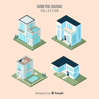 Collection of isometric houses