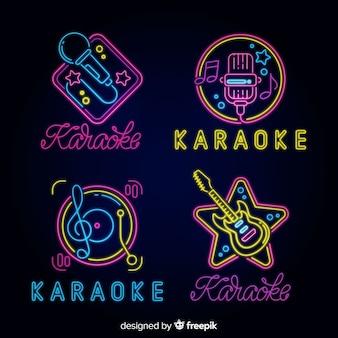 Collection of karaoke neon lights