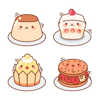 Collection of kawaii japanese dessert