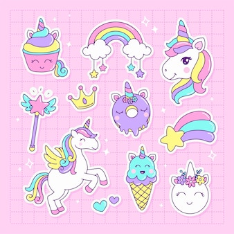 Collection of kawaii unicorn