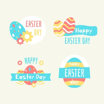 Collection of labels for easter day