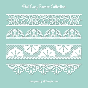 Collection of lace border