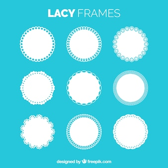 Collection of lace frame