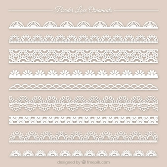 Collection of lace ornament